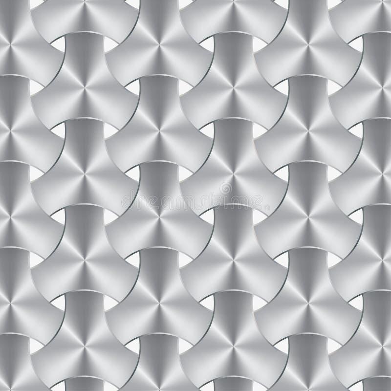 Textura do weave do alumínio ou do metal, fundo ilustração stock