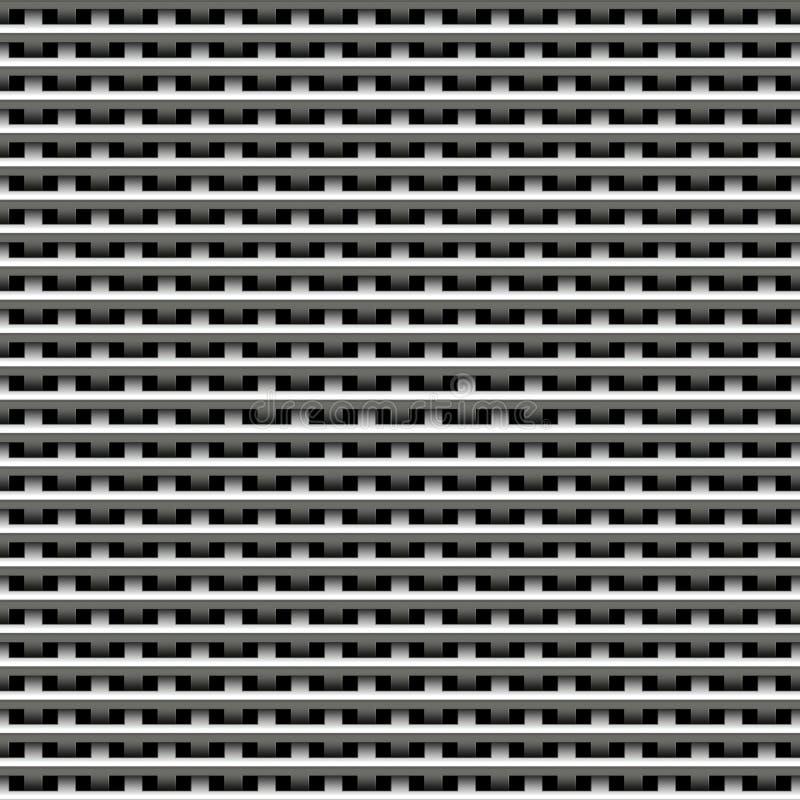 Textura do weave do metal ilustração do vetor