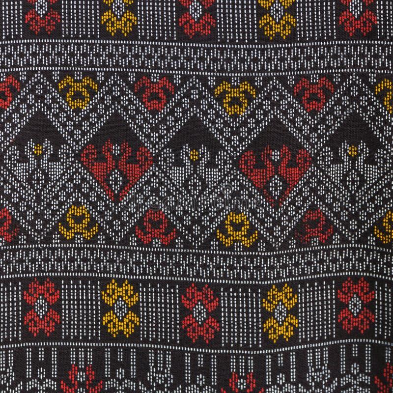 Textura do weave tailandês da tela do estilo imagens de stock royalty free