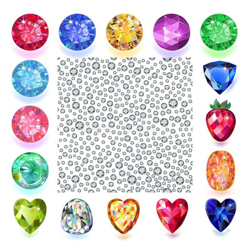 Textura dos cristais de rocha ilustração royalty free