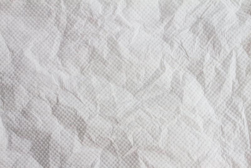 Textura dos enrugamentos do lenço de papel como o fundo fotografia de stock royalty free