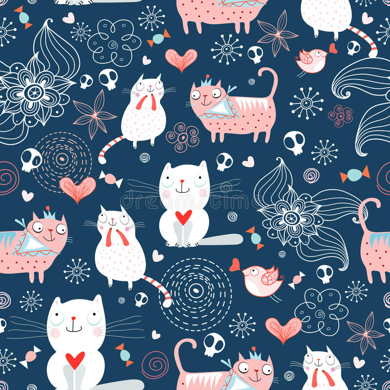 Textura dos gatos ilustração royalty free