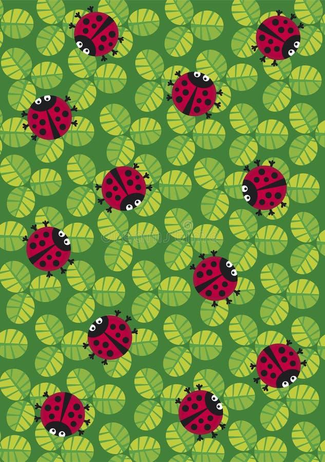 textura dos ladybugs ilustração stock