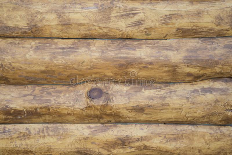 A textura dos logs de madeira após o processamento imagens de stock