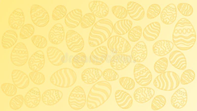 A textura dos ovos da páscoa ilustração stock