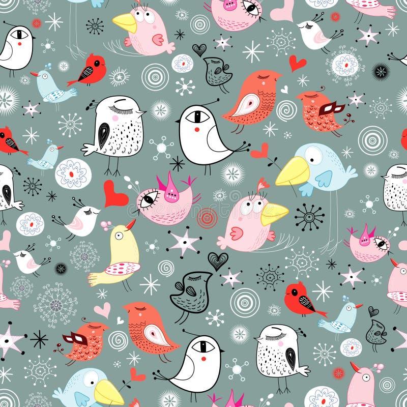 textura dos pássaros ilustração stock