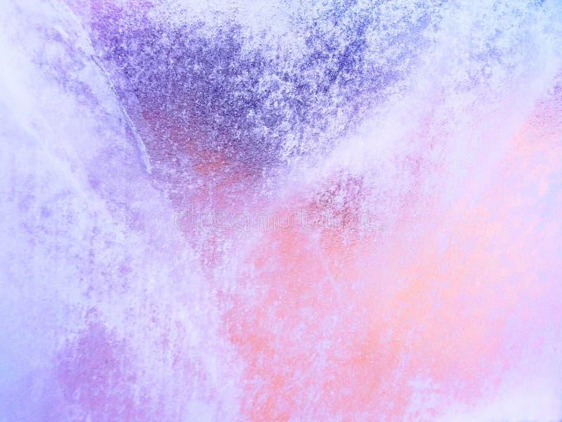 A textura dos testes padrões gelados fotografia de stock royalty free