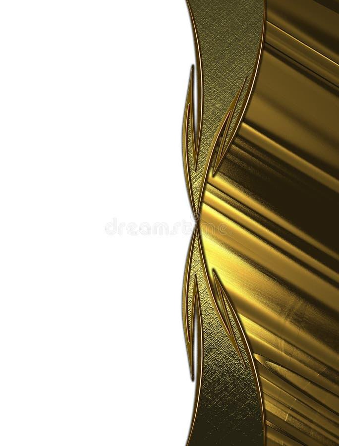 Textura dourada abstrata com testes padrões Elemento para o projeto Molde para o projeto copie o espaço para o folheto do anúncio ilustração do vetor