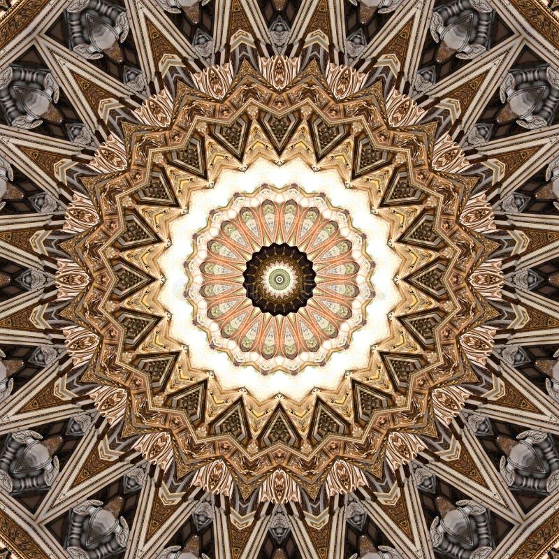 Textura dourada da estrela do projeto da arte de Digitas ilustração stock