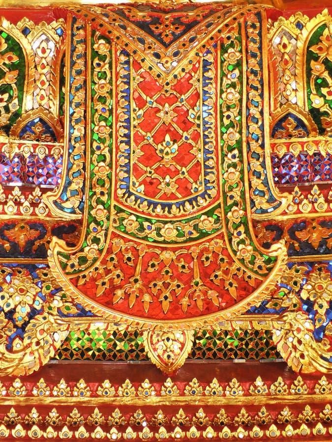 Textura dourada da imagem da Buda em Wat Pho, estátua de buddha, Banguecoque, Tailândia fotografia de stock royalty free