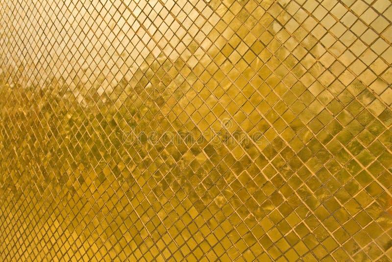 Textura dourada da telha fotos de stock royalty free