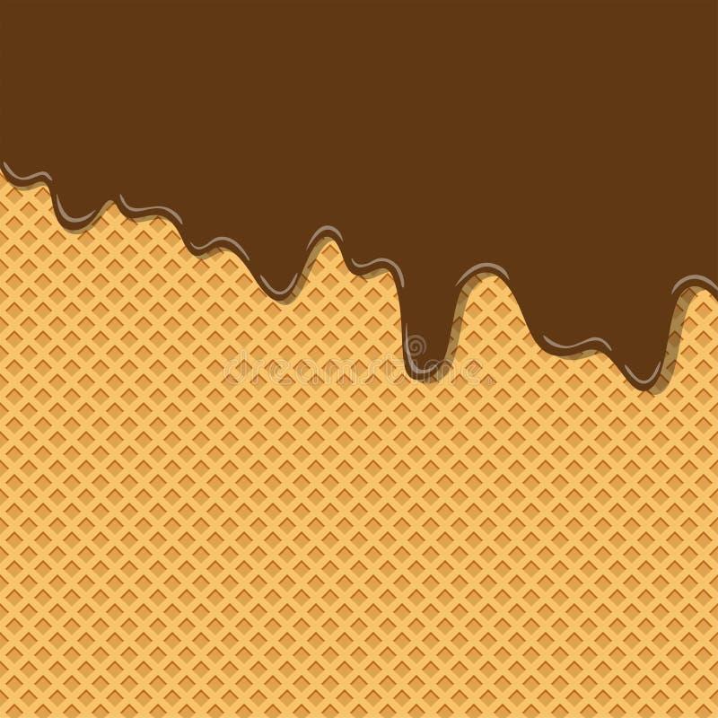 Textura dulce amarga del helado del sabor de la crema del chocolate del cacao ilustración del vector