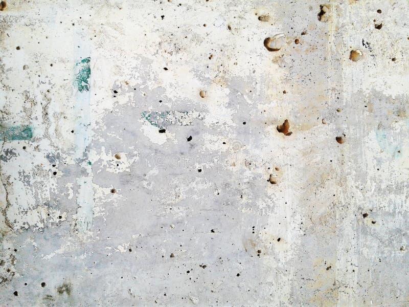 Textura e fundo ásperos sujos da parede do cimento branco ilustração stock