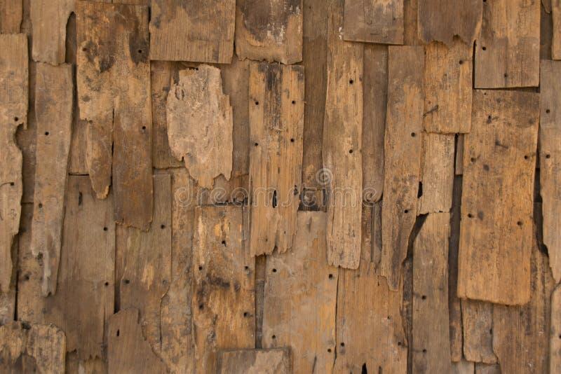 Textura e fundo de madeira do vintage da parede da veneziana velha foto de stock