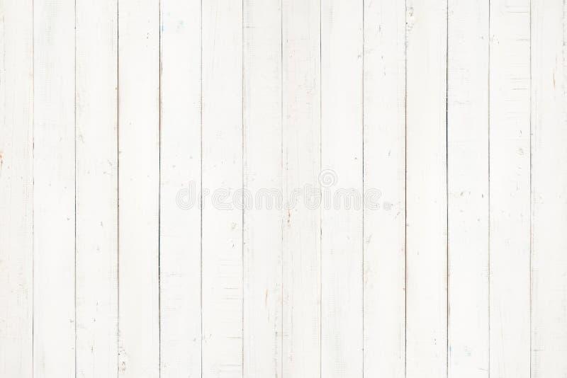 A textura e o fundo de madeira naturais brancos da parede, esvaziam o whi de superfície foto de stock