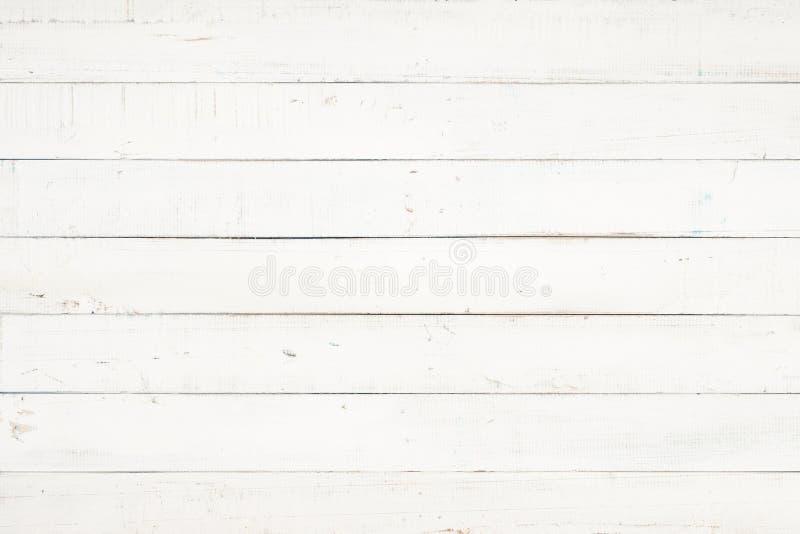 A textura e o fundo de madeira naturais brancos da parede, esvaziam o whi de superfície imagens de stock
