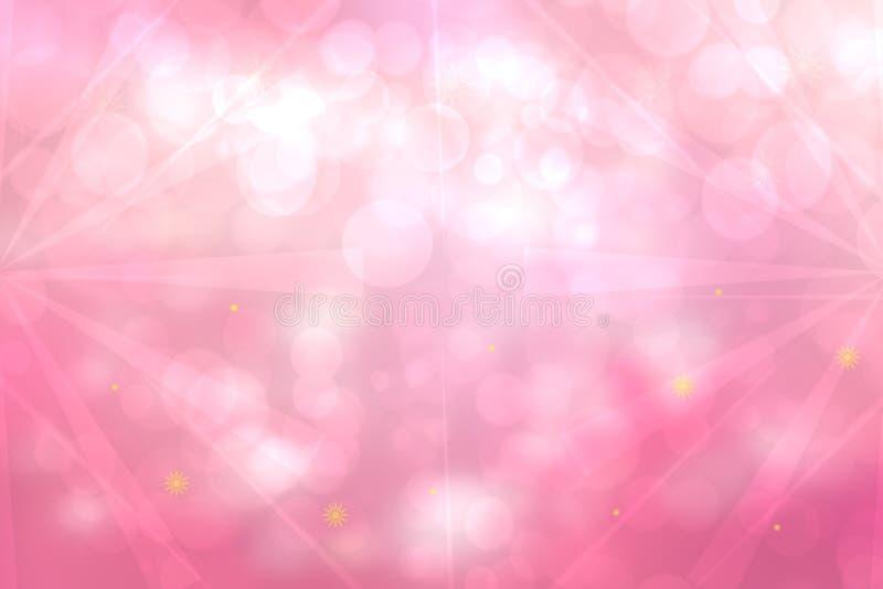 Textura elegante blanca del fondo del rosa del fractal del extracto con los rayos y las estrellas de la luz Formación flúida de l fotos de archivo libres de regalías