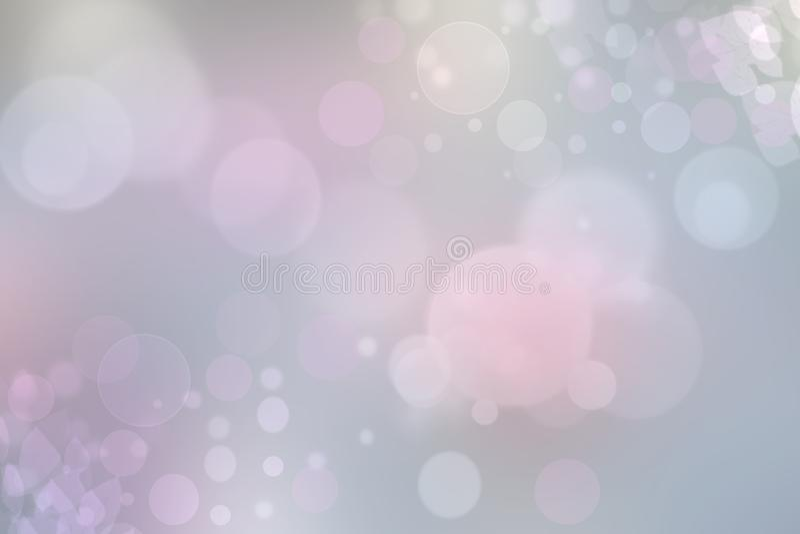 Textura en colores pastel rosa clara del fondo del bokeh del extracto con los círculos de color suaves brillantes Espacio para su stock de ilustración