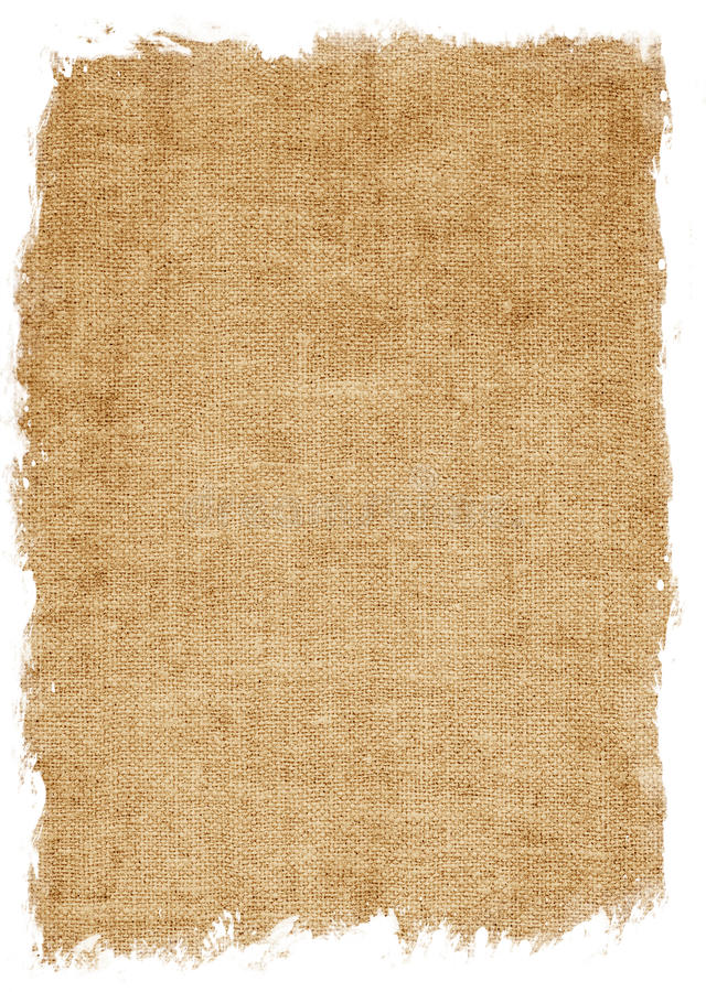 Textura envelhecida da lona isolada no branco imagem de stock royalty free