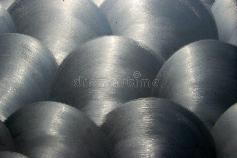Textura escovada 1 do metal fotos de stock