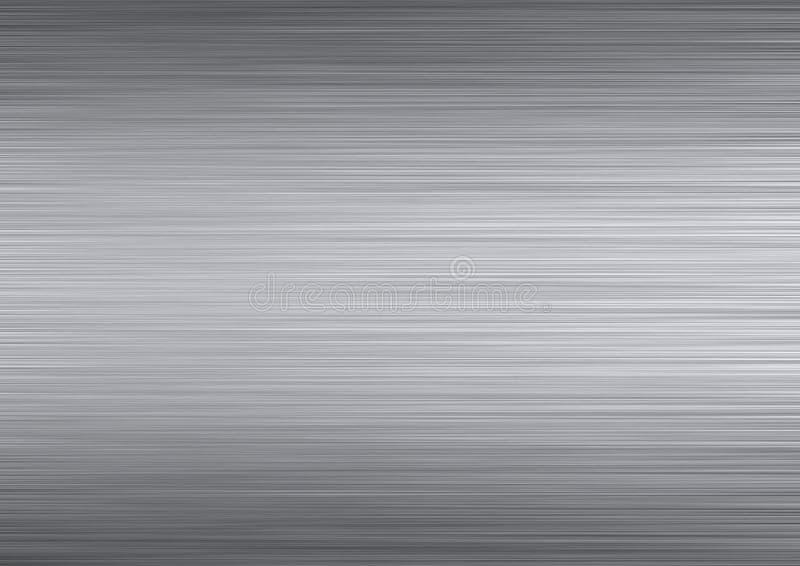 Textura escovada do metal ilustração stock