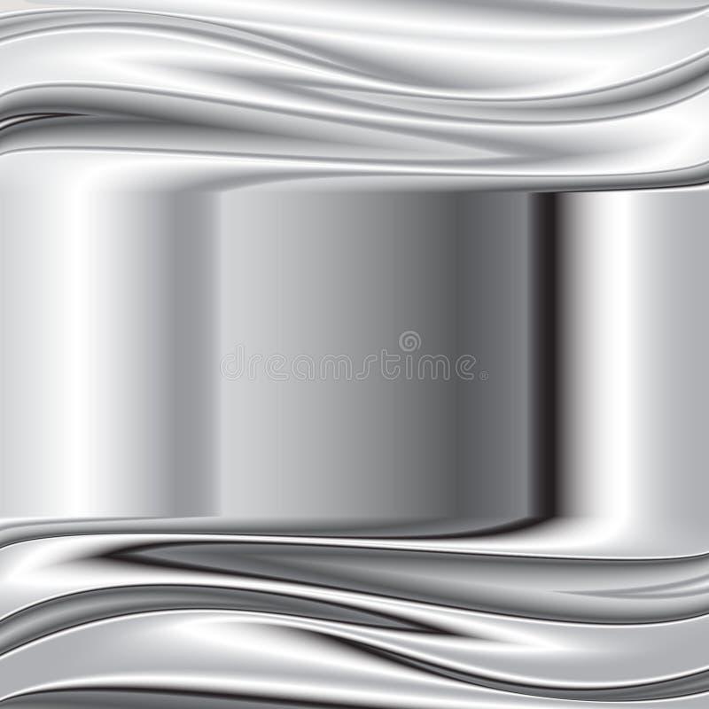 Textura escovada do metal, fundo do vetor ilustração stock