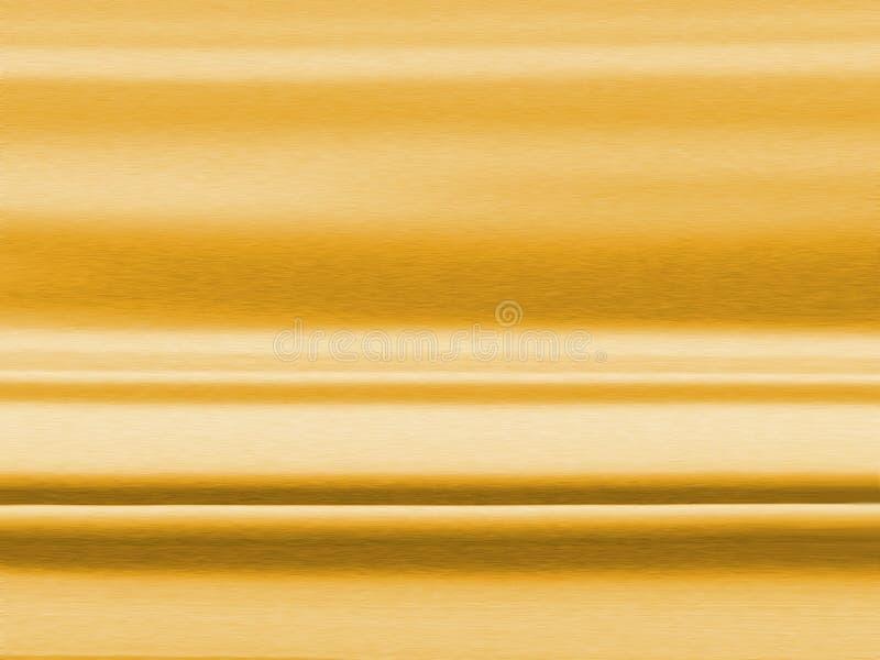 Textura escovada do ouro ilustração stock