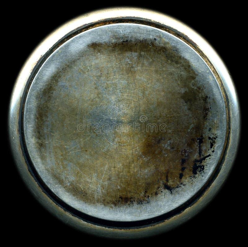 Textura escovada suja do metal fotografia de stock