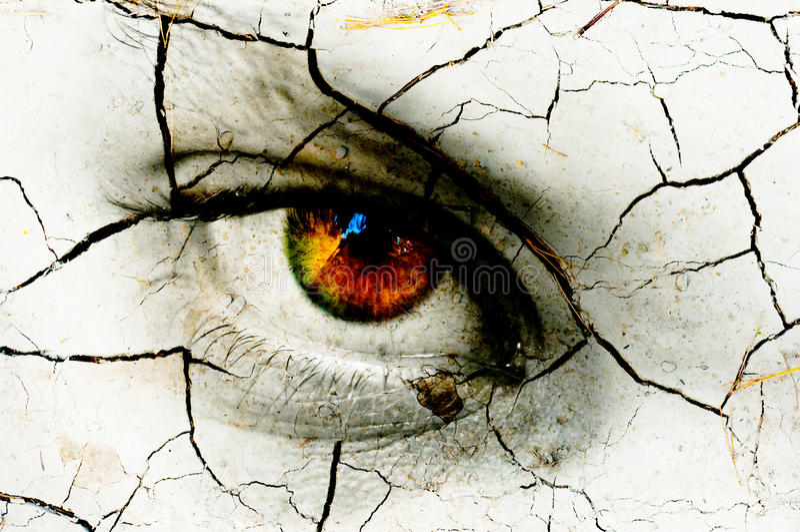 Textura escura da arte do olho de uma mulher imagem de stock