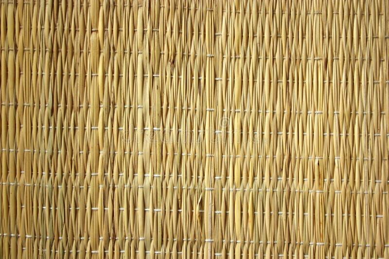 Textura - esteira da palha foto de stock
