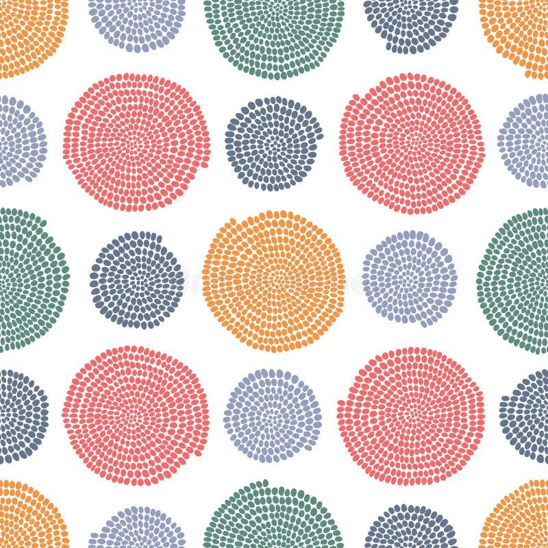 Textura estilizado com arcos e círculos seamless ilustração stock
