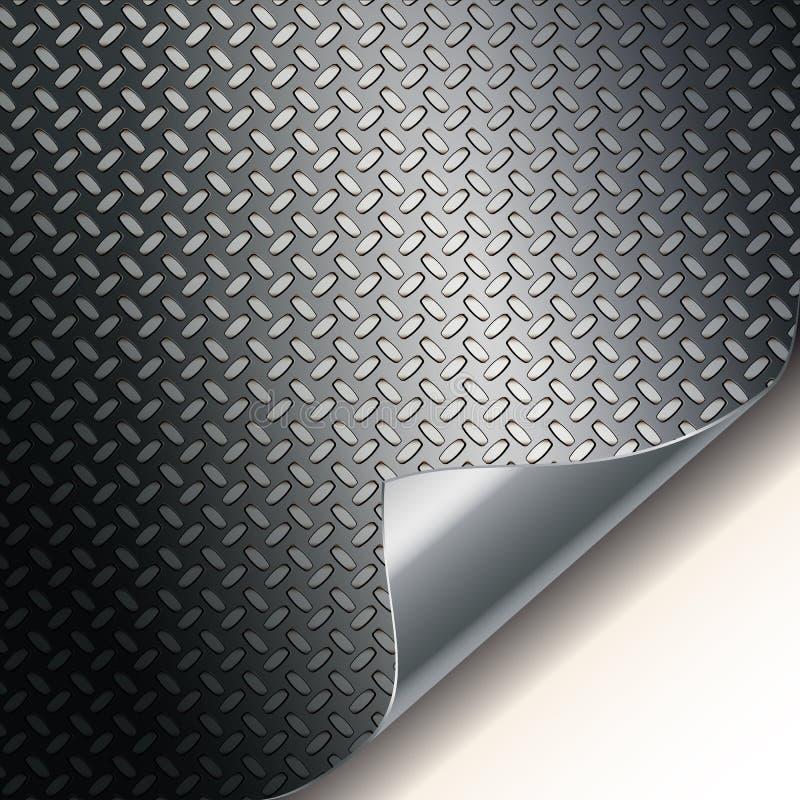 Textura estriada del metal. stock de ilustración