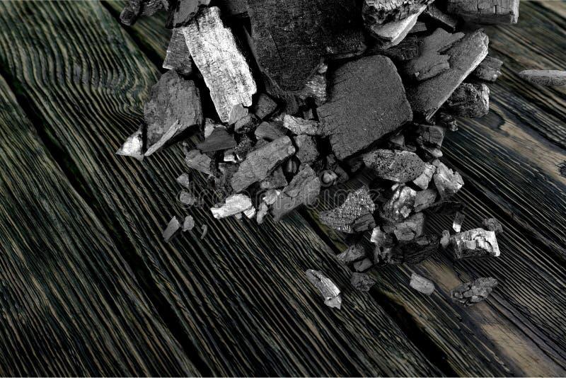 Textura fósil del carbón, cierre para arriba, fondo fotos de archivo libres de regalías
