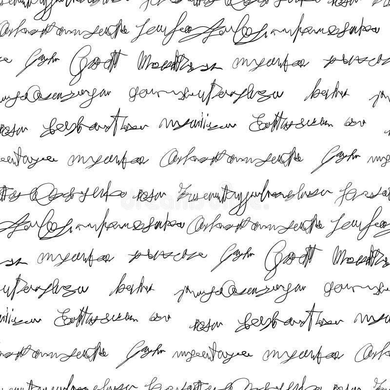 Textura falsificada sem emenda da escrita ilustração do vetor