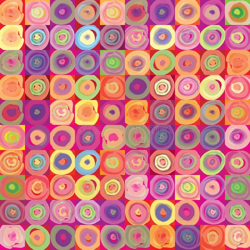 Textura festiva geométrica abstracta del estallido-arte. ilustración del vector