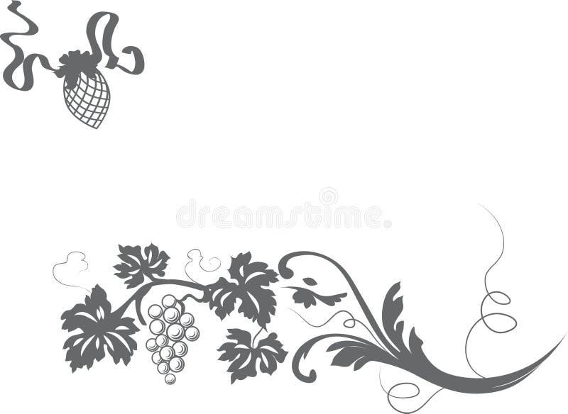 Textura floral ilustração do vetor