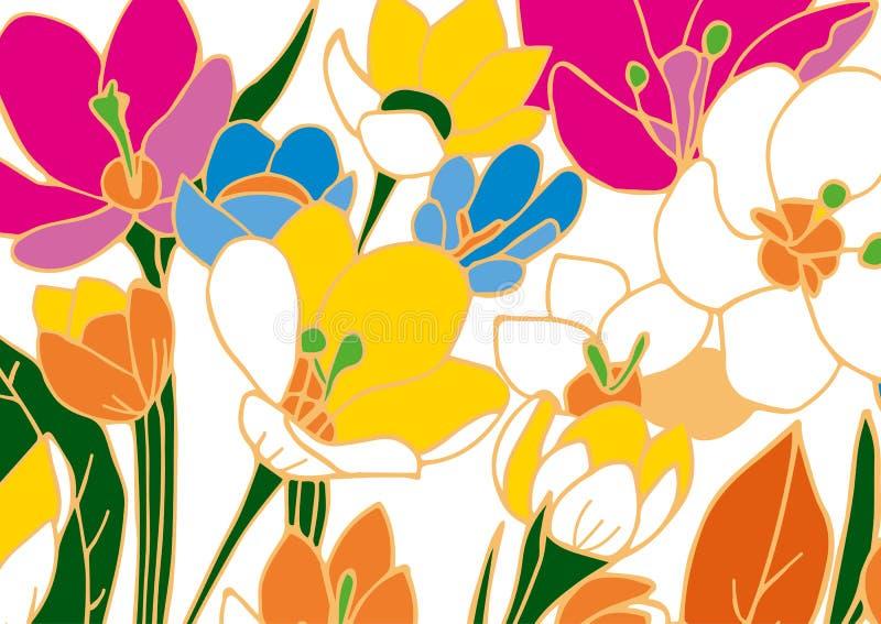Textura floral libre illustration