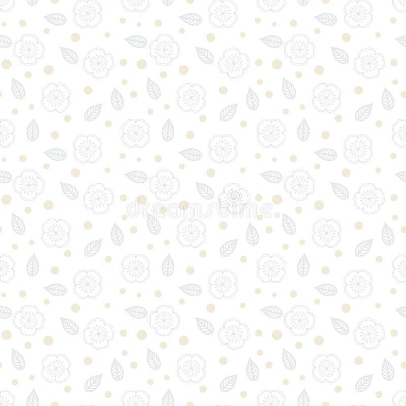 Textura floral blanca con las pequeñas flores ditsy stock de ilustración