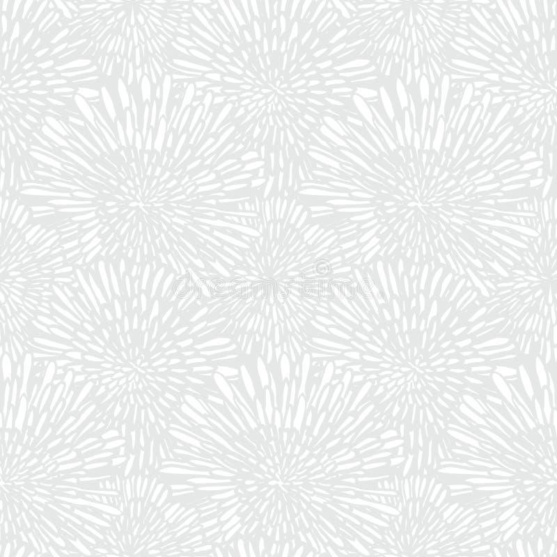 Textura floral blanca en estilo del vintage stock de ilustración