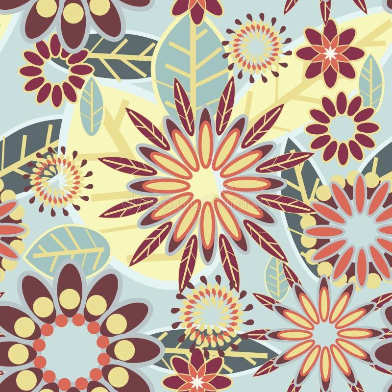 Textura floral bonita ilustração do vetor