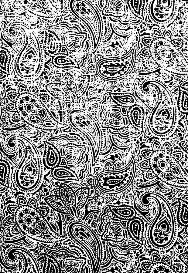 Textura floral de Grunge ilustração royalty free