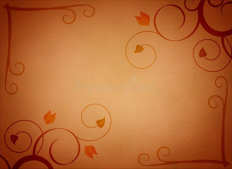 Textura floral de Grunge ilustração do vetor