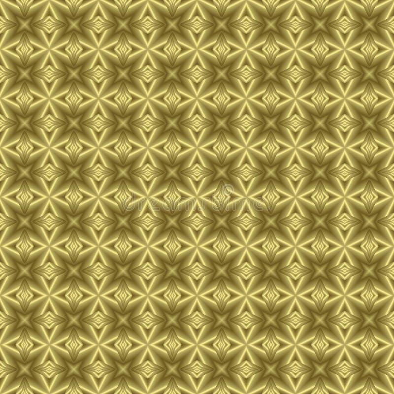 Textura floral de oro del fondo ilustración del vector