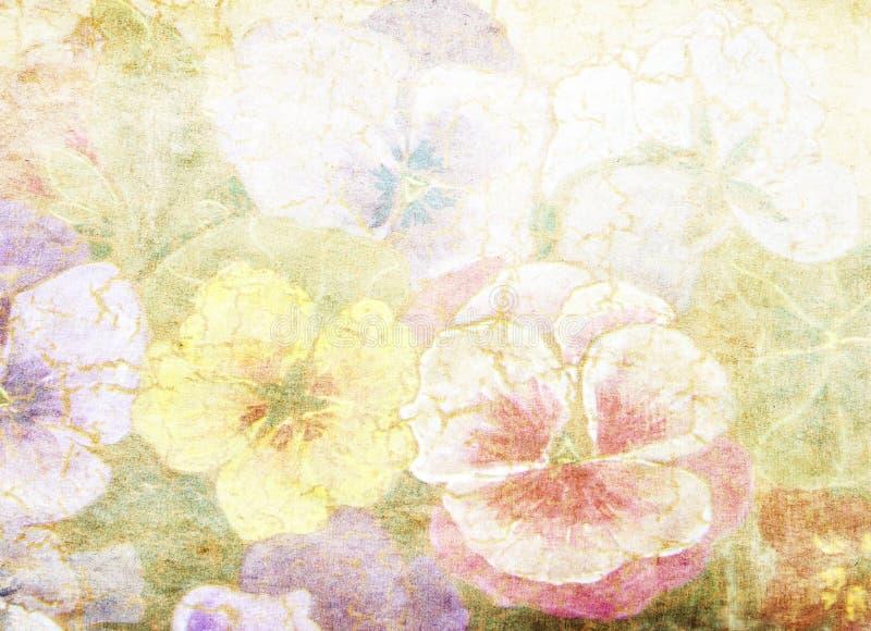 Textura floral de papel velha imagens de stock royalty free