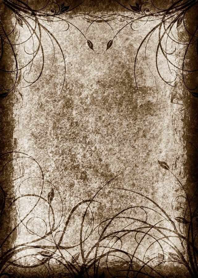 Textura floral do grunge ilustração royalty free