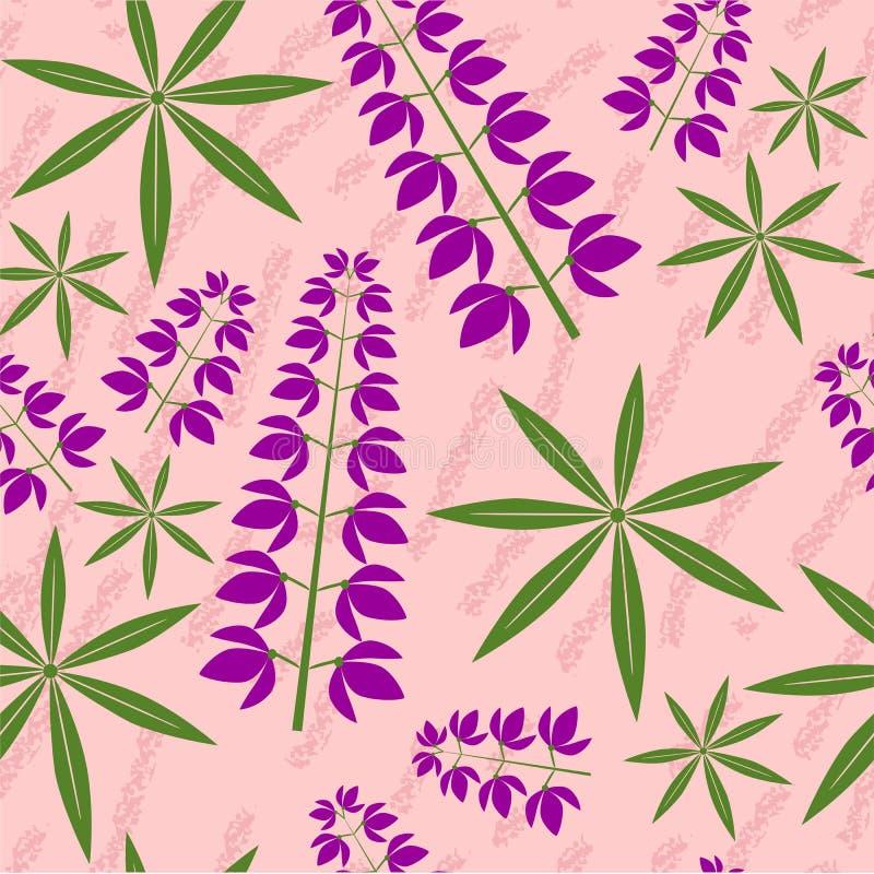 Textura floral do grunge sem emenda ilustração do vetor
