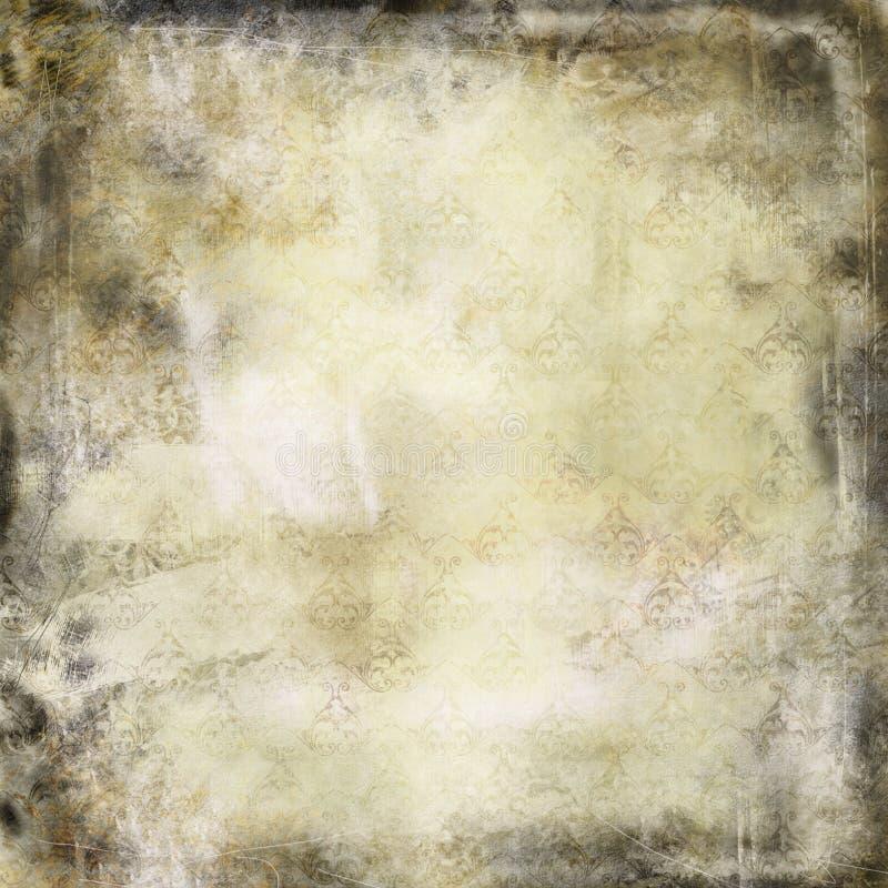 Textura floral retro de Grunge ilustração royalty free