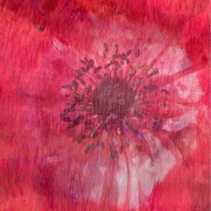 Textura floral - vermelho ilustração do vetor