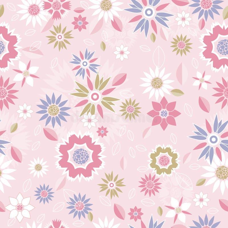 Textura floral, vetor ilustração stock