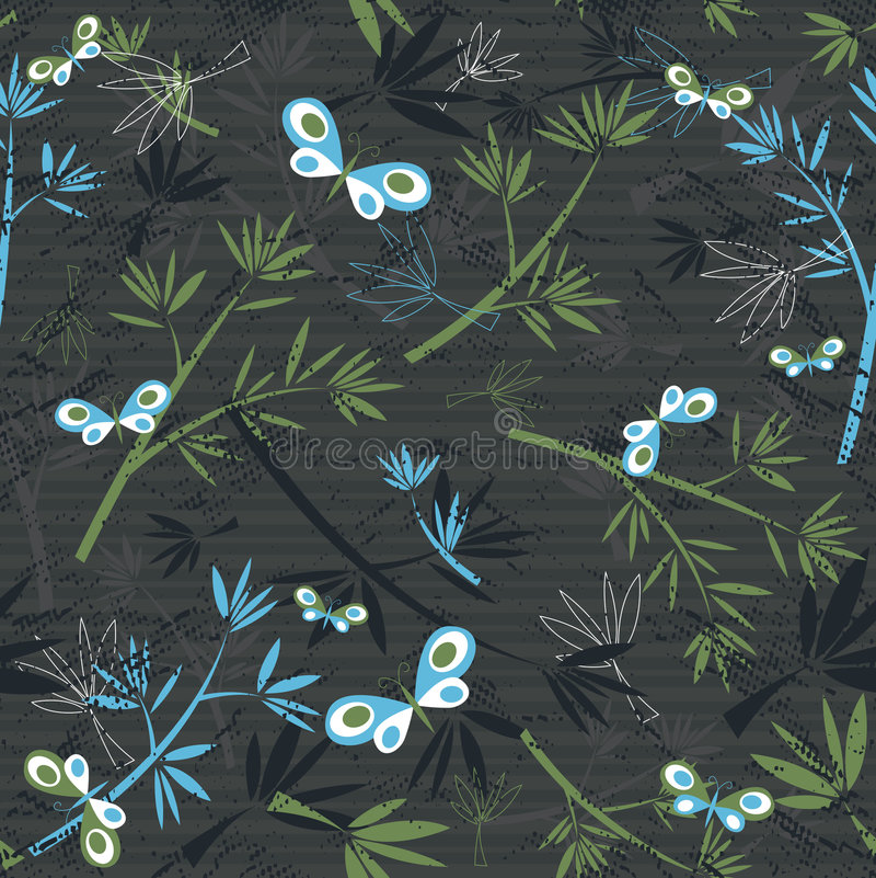 Textura floral, vetor ilustração royalty free
